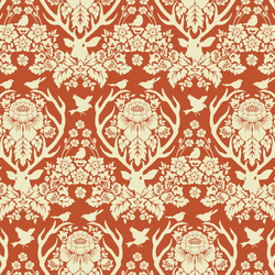 Little Antler Damask in Cinnamon