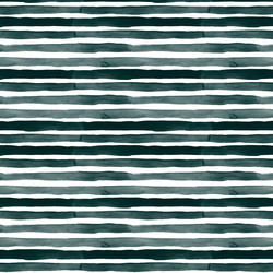 Watercolor Stripes in Dark Green