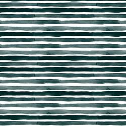 Watercolor Stripes in Dark Green
