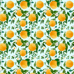 Small Oranges in Spring Breeze