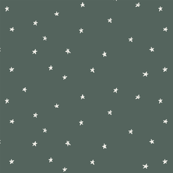 Celestial Stars in Dark Duck Green
