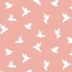Hummingbird Silhouette in Peony