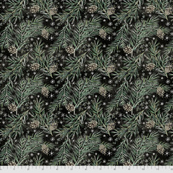 Pine Boughs in Black