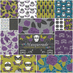 Masquerade Fat Quarter Bundle in Gothic