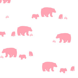 Bear Silhouette in Rose Pink