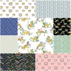 Lions and Tigers and More Fat Quarter Bundle
