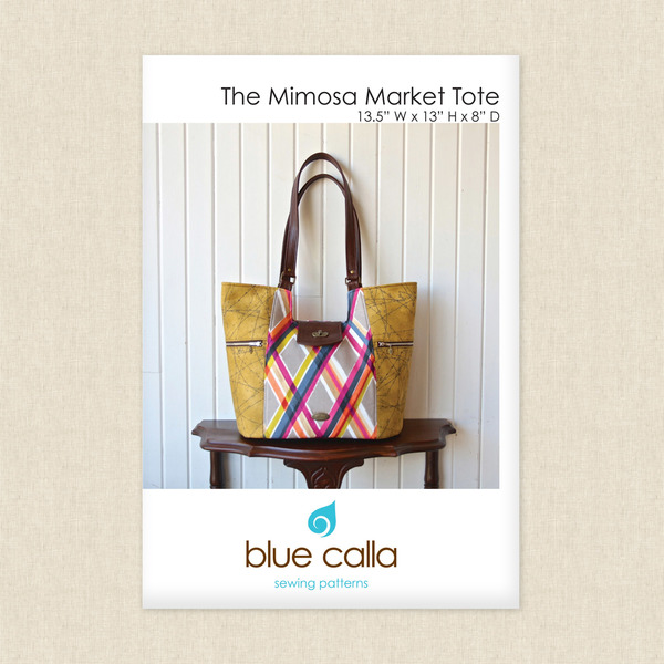 The Mimosa Market Tote Sewing Pattern by Blue Calla at Hawthorne ...