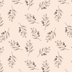 Woodland Branches in Soft Peach