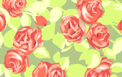 Tumble Roses in Tangerine