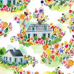 Summer Cottages in White
