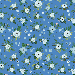 Large Blue Harbour Florals in Bright Blue