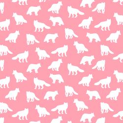 Little Fox Silhouette in Rose Pink