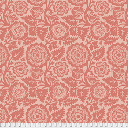 Blockprint Blossom in Coral