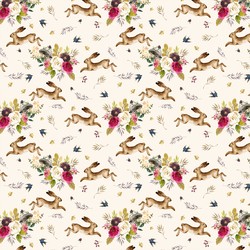 Small Autumn Bunnies in Soft Ivory