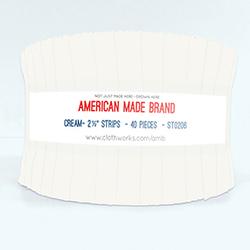 "American Made Brand 2.5"" Strip Roll in Cream"