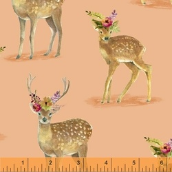 Floral Fawns in Apricot