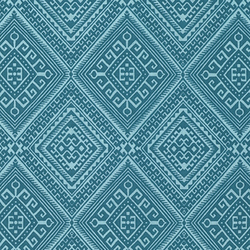 Ethnic Diamond in Teal