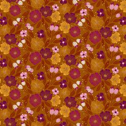 Flowers in Ochre Multi