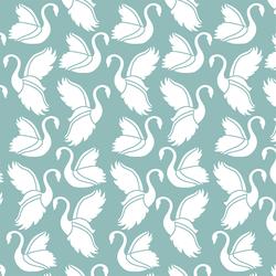 Swan Silhouette in Pool