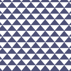 Triangle Mosaic in Indigo