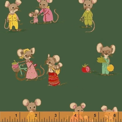 Country Mouse City Mouse in Green