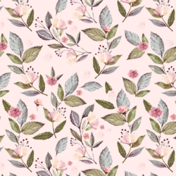 Tossed Floral in Soft Blush