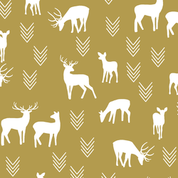 Deer Silhouette in Gold