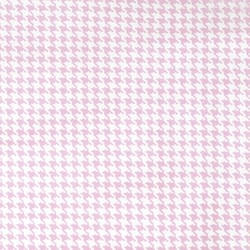 Tiny Houndstooth in Rose