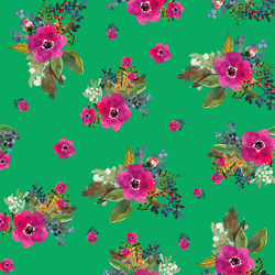 Jungle Floral in Leafy Green
