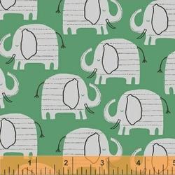 Elephant Walk in Green