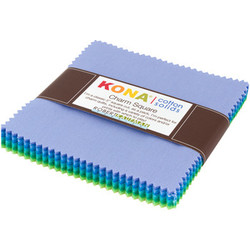 """Kona Solid 5"""" Square Pack in Mermaid Shores"""