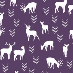 Deer Silhouette in Aubergine
