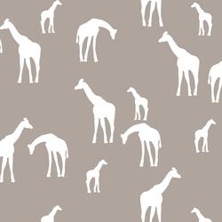 Giraffe Silhouette in Taupe