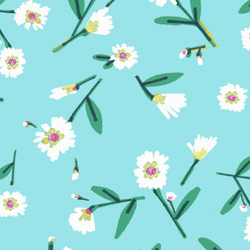 Lake Flowers in Turquoise