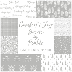 Comfort and Joy Basics Fat Quarter Bundle in Pebble