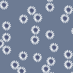 Picking Daisies in Dove and Indigo