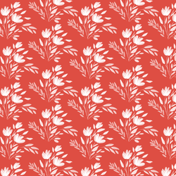 Etched Floral in Grenadine Red