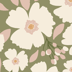 Large Easter Blossoms in Sage Green