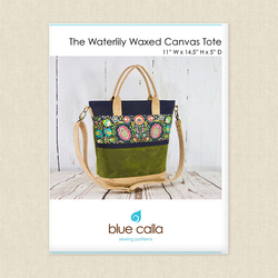 Waterlily Waxed Canvas Tote