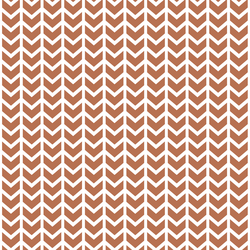 Broken Chevron in Terracotta