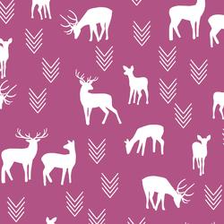 Deer Silhouette in Azalea