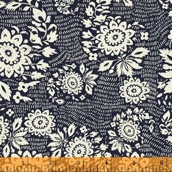 Floral Stitch in Indigo