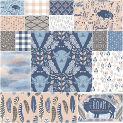 Roam Fat Quarter Bundle in Dawn