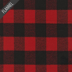 Mammoth Buffalo Check Flannel in Red