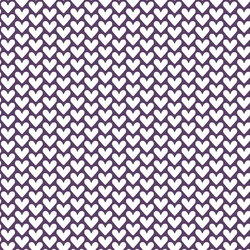 Hearts in Aubergine