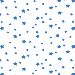 Star Light in Cerulean on White