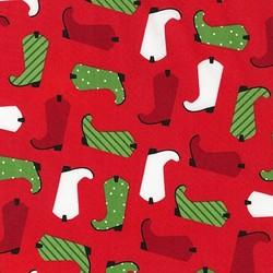 Santas Boot in Red