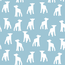 Lamb Silhouette in Bluebell