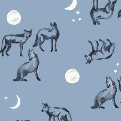 Coyote Moon in Slate Blue