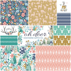 Oh Deer Fat Quarter Bundle in Eden